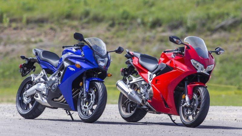 Honda CBR650F and VFR800F